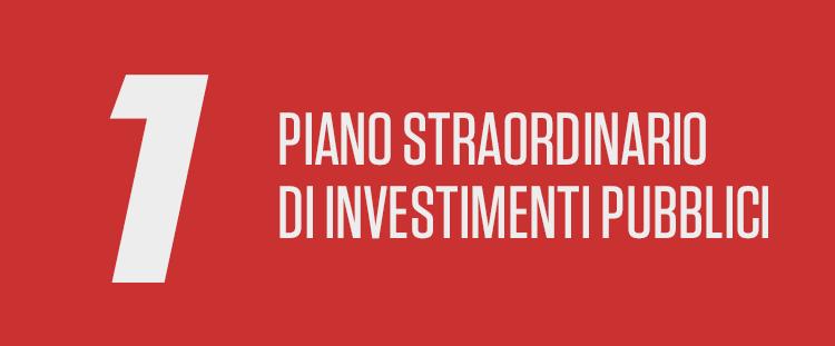 Piano Straordinario di Investimenti Pubblici