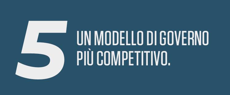 Un modello di governo più competitivo